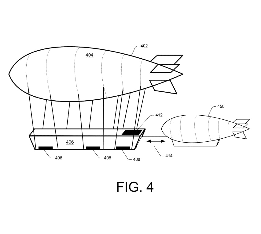 A smaller shuttle airship could dock with the larger warehouse.